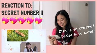 DITA AND DENISE ARE SO CUTE!! 😍 -- SECRET NUMBER: SECRET FUN EP. 5 REACTION!!