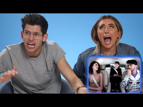LAUREN ELIZABETH & HUNTER MARCH REACT TO ITALIAN THIRD WHEEL | AwesomenessTV Reacts