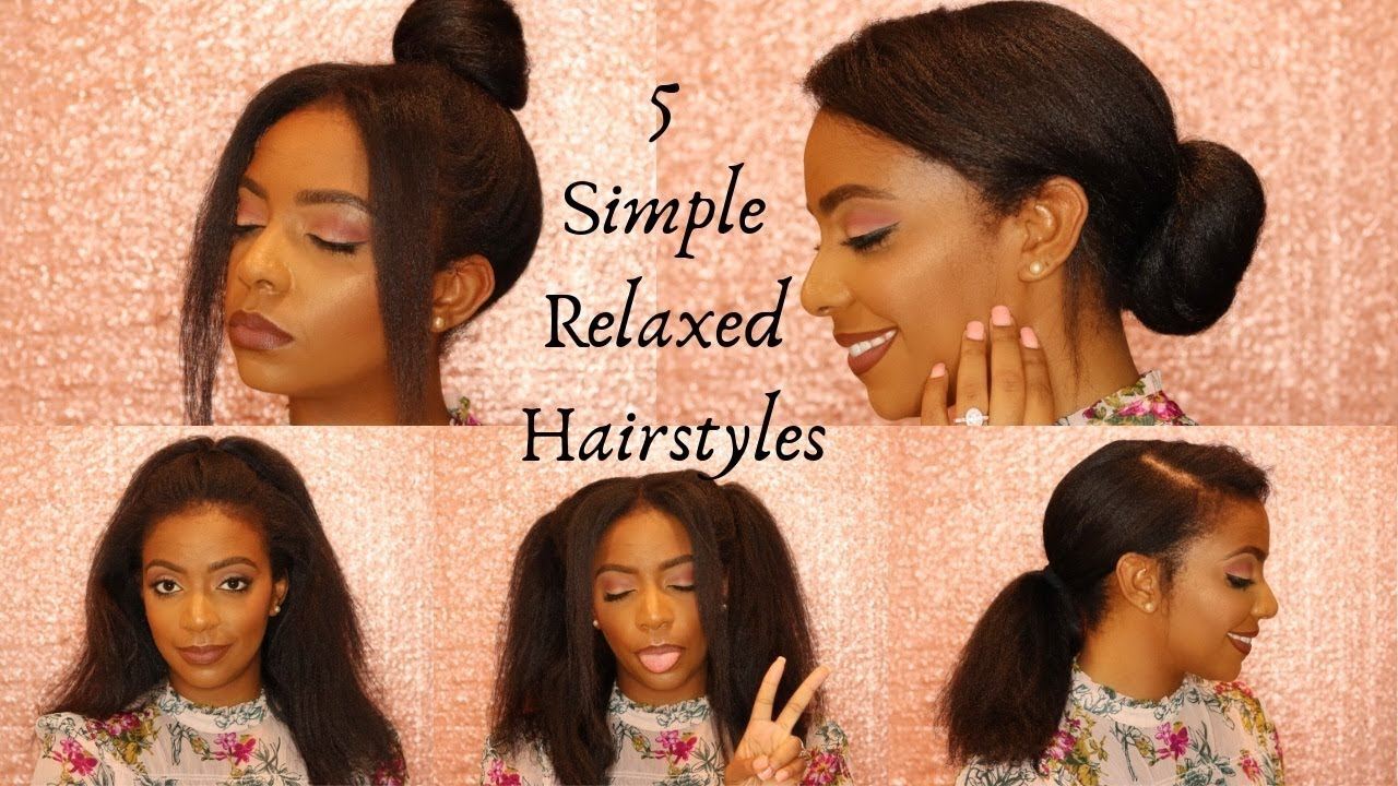 10 EASY Hairstyles for Relaxed Hair