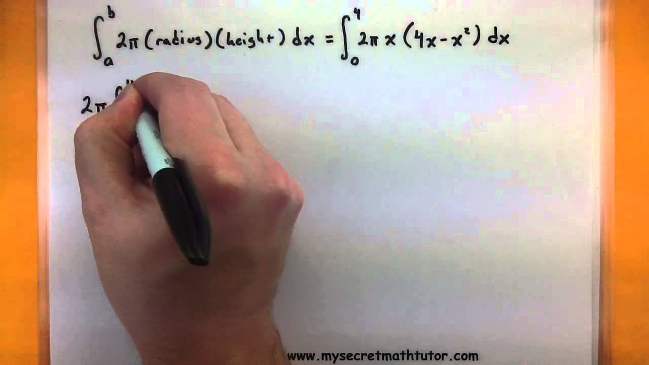 Calculus find the volume using the shell method youtube ccuart Gallery