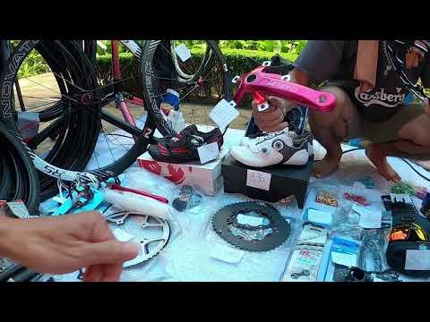 จานหน้า 60 ฟัน ใส่ขา VCD 130 ตลาดนัดจักรยาน ทีโอที รถพับ จานเบี้ยว Shimano105 Ultegra