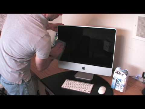 How to clean iMac screen with iKlear Complete Cleaning Kit
