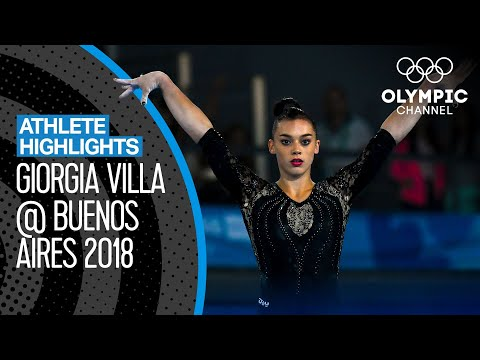 All Giorgia Villa 🇮🇹 Medal Winning Routines at the Youth Olympics   Athlete Highlights