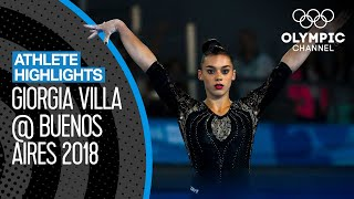 All Giorgia Villa 🇮🇹 Medal Winning Routines at the Youth Olympics | Athlete Highlights