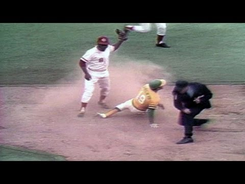 72 WS Gm1: Bench throws out Campaneris stealing