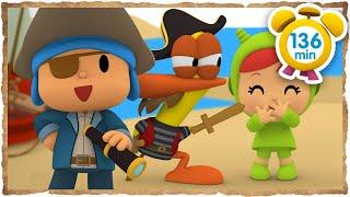 ☠️ POCOYÓ en ESPAÑOL - ¡Piratas a bordo! [ 136 minutos ] | CARICATURAS y DIBUJOS ANIMADOS para niños