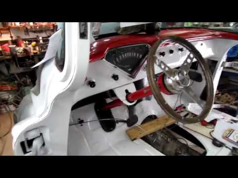 55 Chevy Truck Steering Column Installed Youtube