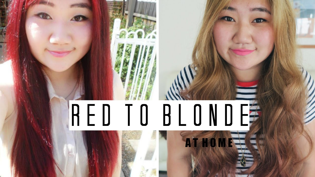 HOW TO • Dye Your Hair from Red to Ash Blonde At Home | Beini Wu ...