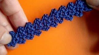 Вязание крючком - Видео урок № 190 - Ленточное кружево 4