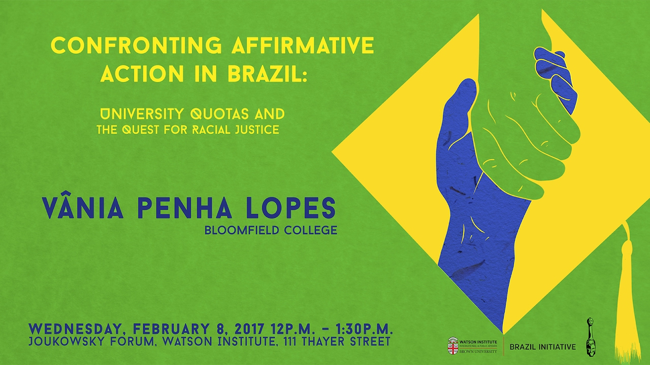 affirmative action in brazil In 2001, on the heels of the united nations conference on racism in durban, south africa, several brazilian institutions established race-based affirmative action for the first time ever in that country affirmative action represented a major step in brazil's process of democratization and nation.