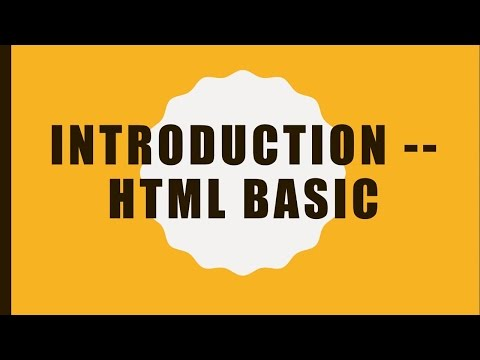 Introduction -- HTML Basic (English)