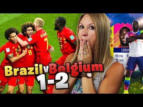 Brazil vs Belgium | LIVE Reaction!! I PACKED 95 LUKAKU!!! FIFA 18