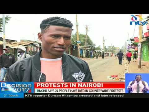 KNCHR says 24 people have died in countrywide protests