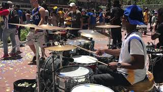 CurB Service And Drummerboyaaron Meets The 2018 Golden State Warriors Parade