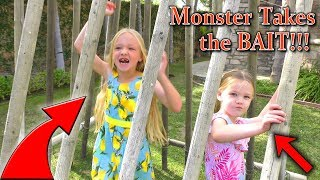 Backyard Monster Takes the BAIT Caught on Camera!!!