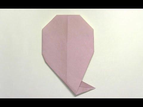 ハート 折り紙 おばけ 折り紙 折り方 : youtube.com