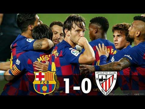 FC BARCELONA VS ATHLETIC BILBAO ( 1 - 0 ) - YouTube