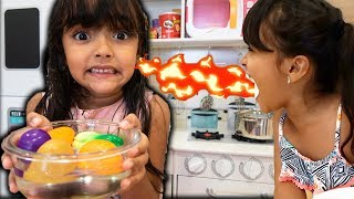 BIA LOBO PRETEND PLAY COOKING FOOD TOYS WITH KITCHEN PLAY SET