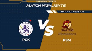 Match 10 - PCK vs PSM | Highlights | FanCode ECS Czech Republic Day 3 | Prague 2021 | ECS21.301