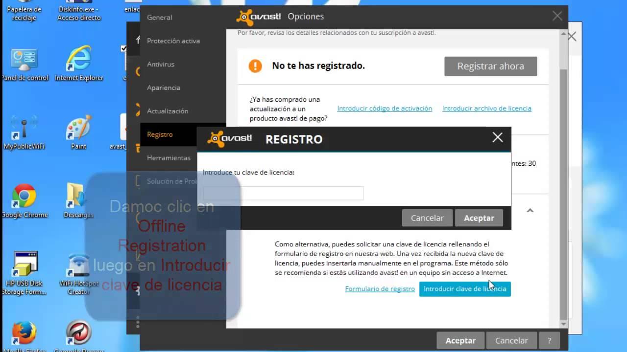 Avast Antivirus 2015 Gratis Con Licencia Hasta El 2047 Youtube