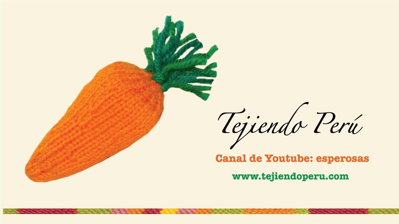 Zanahorias de Pascua (Easter carrots) tejidas en palillos o dos ...