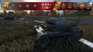 WoT Pz.Kpfw. II Ausf. J tier III German premium light (joke) tank | 12 kills | 1 vs 5 - Ruinberg