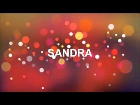 grattis sandra GRATTIS PÅ FÖDELSEDAGEN SANDRA   YouTube grattis sandra