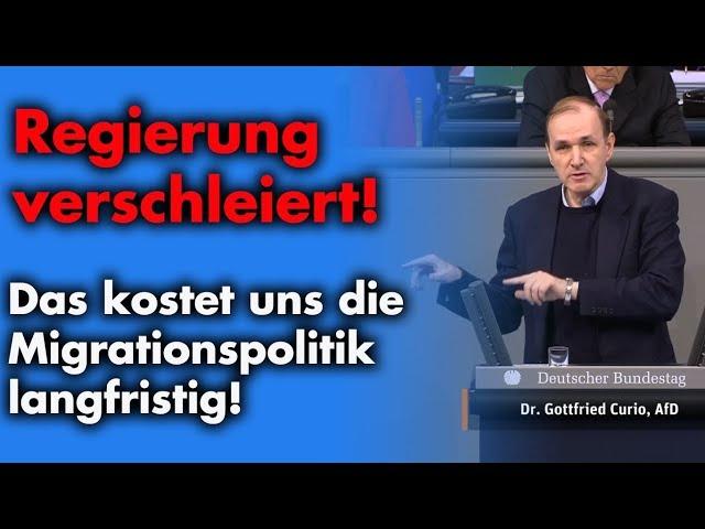 Billionen-Kosten für Migranten | Dr. Gottfried Curio