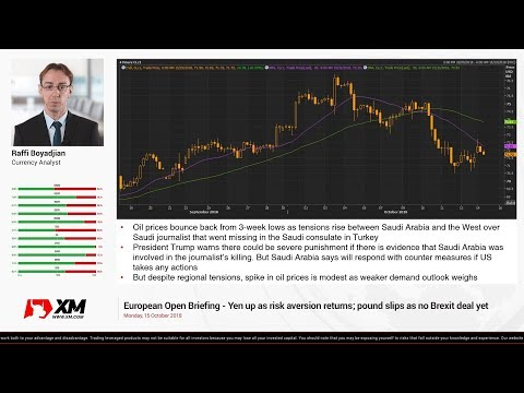 Forex News: 15/10/2018 - Yen up as risk aversion returns; pound slips as no Brexit deal yet