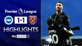 West Ham's Champions League hopes dented by Brighton draw! | Brighton 1-1 West Ham | EPL Highlights