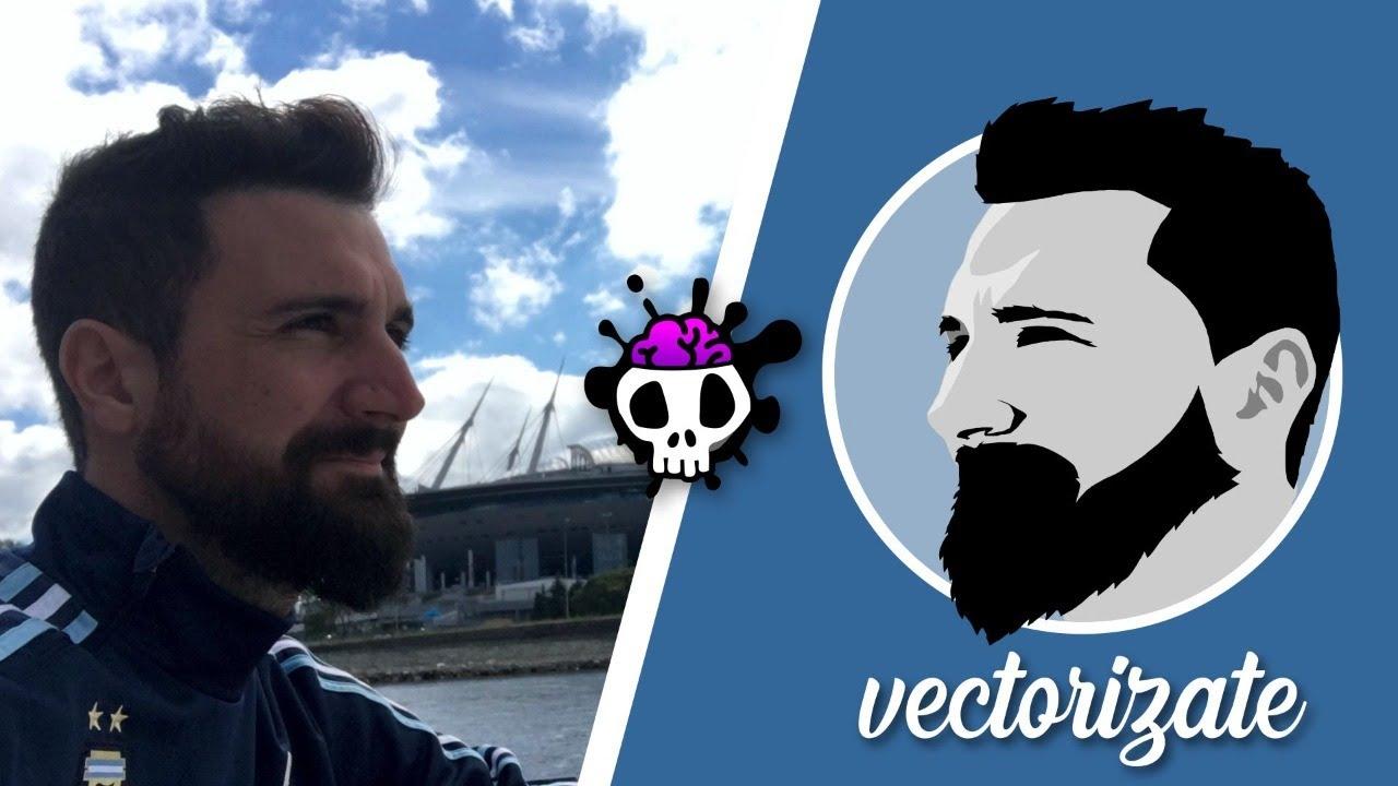 VECTORIZATE! Aprende a Vectorizar rostros en este video en VIVO!