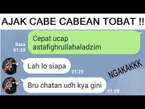 TEXT PRANK CABE CABEAN DI AJAK TAUBAT ( WALI - TOMAT (TAUBAT MAKSIAT)