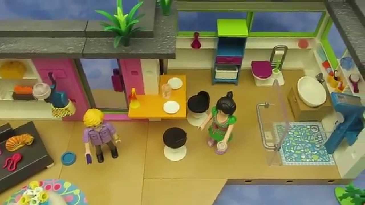 Idee playmobil moderne küche playmobil 5586 gästebungalow aufgebaut im video von www