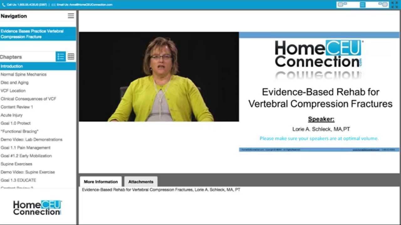 Evidence Based Rehab For Vertebral Compression Fractures Youtube