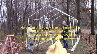 How do I build a HF 10 X 17 portable garage-SHOWS TARP INSTALL