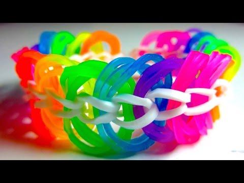 Красивый браслет из резинок на Карандашах, Рогатке или Станке. Браслеты из резиночек RAINBOW LOOM