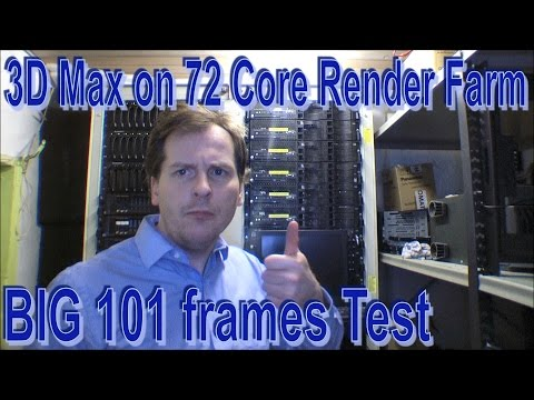 101 frames test on 72 core Render Farm - 156
