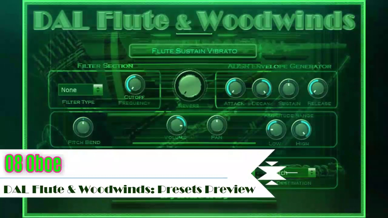 DAL Flute & Woodwinds VST VST3 Audio Unit Plugins plus EXS24 and