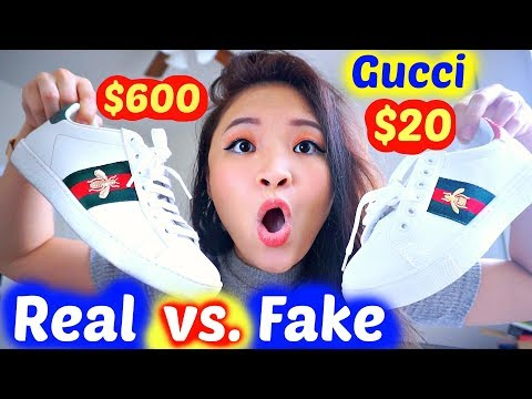 GIÀY GUCCI THẬT Vs. GIÀY DỎM | REAL GUCCI SHOES Vs. FAKE SHOES ♡ Bee Sweetiee
