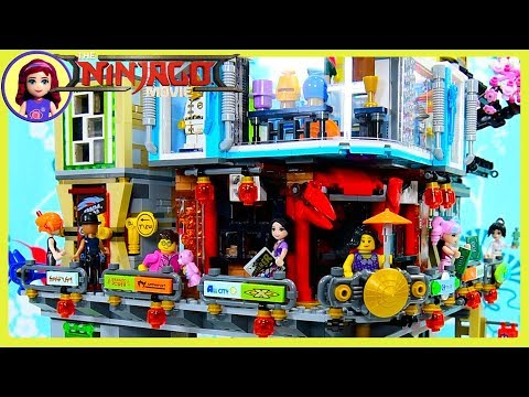 LEGO Ninjago City Build the Street Level Shops Review Silly Play Kids Toys