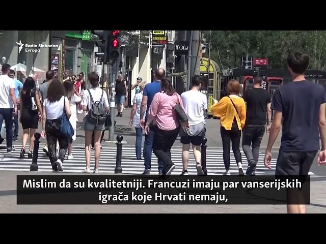 Beograd uoči utkamice Francuska - Hrvatska