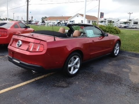 2010 used ford mustang gt convertible red for sale marshall ford in o 39 fallon missouri 63366. Black Bedroom Furniture Sets. Home Design Ideas