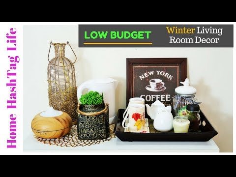 Living Room Decoration Ideas - Low Budget & Winter Edition! Home HashTag Life