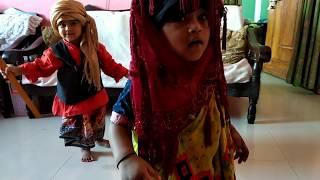 Twin baby funny video (Baba Re Baba kare korlam biya)