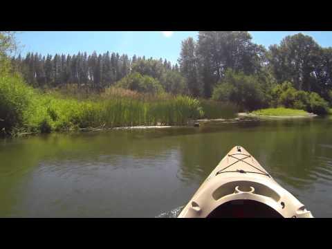 Kayaking the Little Spokane River