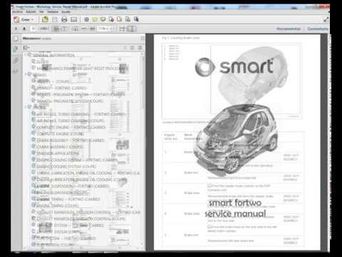 Smart Fortwo  Service Manual  Wiring Diagram  YouTube