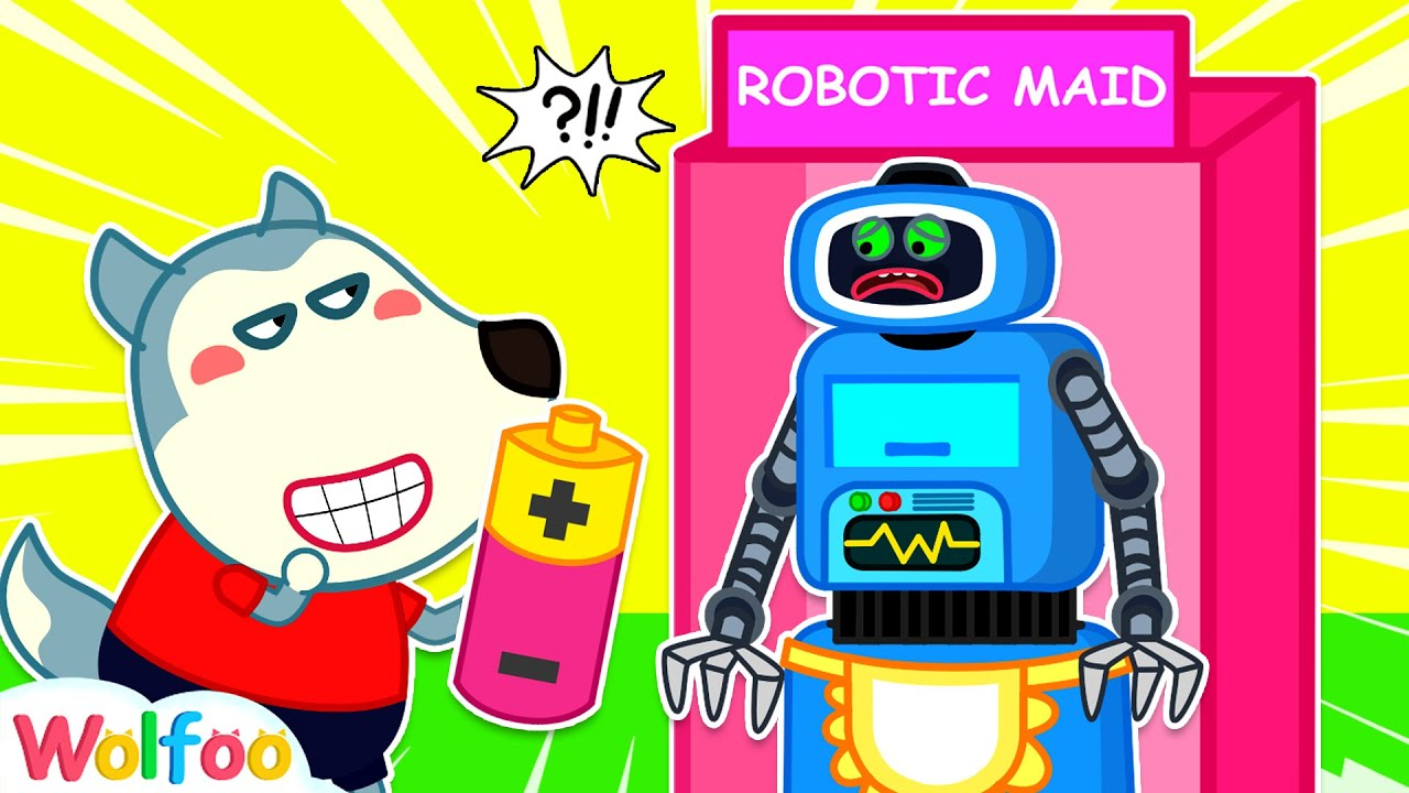 Wolfoo Does Not Like His Robot Maid - Funny Stories for Kids | Wolfoo Family Kids Cartoon