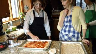 3 Sisters Cooking Italian: Home Made Pizza Dough With Special Guest - Sister #4