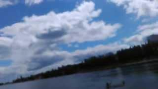 Купание в реке Припять в городе Мозырь