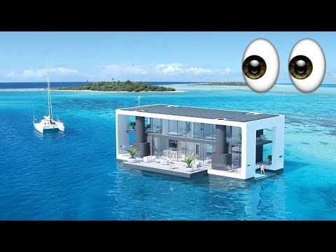🚤 💫The self elevating, off grid, luxury floating home